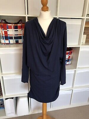MAMALICIOUS Dress Maternity Nursing Navy Size M L