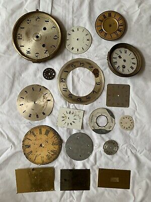 Clock faces/dials. Various Sizes - Good For Repairs Or Craft