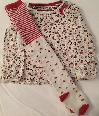 Girls Next Top and Tights Outfit Set 3-4 Years