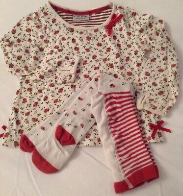 Girls Next Top and Tights Outfit Set 2-3 Years