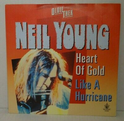 "NEIL YOUNG - Heart of Gold / Like A Hurricane - 7"" Single, RI - Mint-"