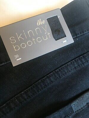 Skinny Bootcut 7 For All Mankind Black Jeans Woman's Sz 30 NWT Retail $169