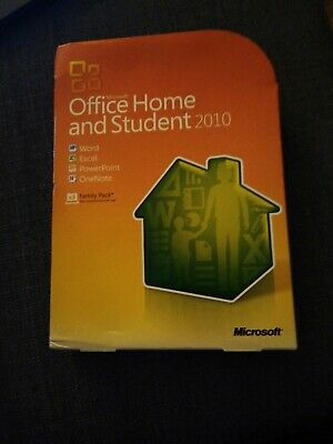 MICROSOFT OFFICE HOME AND STUDENT 2010. Includes box, CD and Product Key