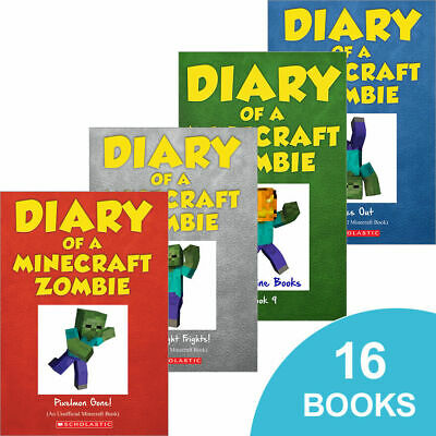 Diary of a Minecraft Zombie complete set- NEW sealed 16 books!
