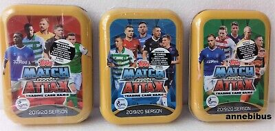 Topps Match Attax SPFL 2019/20 Trading Card Collection 3X Mini Tins