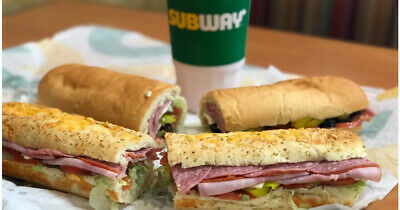 12 Subway Restaurant Sandwich In-Store Saving Coupons Expire 12/29/19  Footlongs