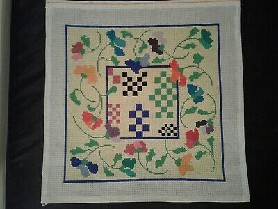 "Hand Painted Needlepoint Canvas, 13 stitch, 15"" by 15"" Square"