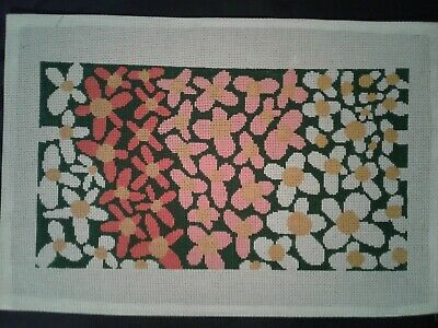 Hand Painted Needlepoint Canvas, 13 stitch, 18 by 12 inch canvas.