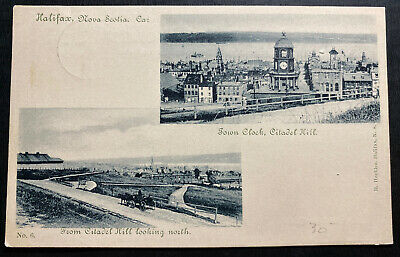 1899 Halifax Canada RPPC Postcard Cover To Antisonish NS Town Clock