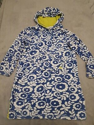 Mini Boden Towelling Dress / Beach Robe, Floral Pattern, Age 9-10 Years