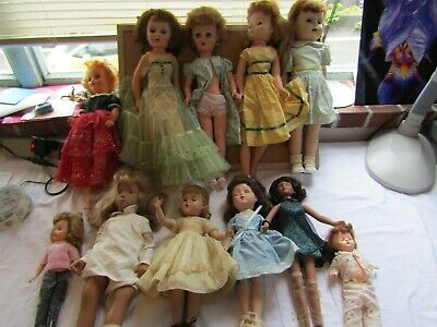 VINTAGE Lot Of 11, 1950'S / 70'S MIXED LOT NO NAME DOLLS & CLOTHES. #188
