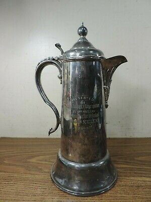 Hamilton Laidlaw Silver Plated Water Pitcher Presentation Mallory UF Maclean