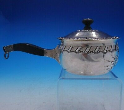 Coin Silver Pipkin with Lid, Wood Handle, and Gold Wash Interior (#4261)