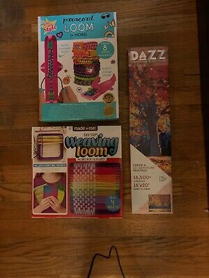 Paracord Loom + Weaving Loom + DAZZ Dimensional diamond Art Kits