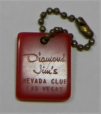 Vtg Diamond Jim's Navada Club Las Vegas Casino Souvenir Key Chain Fob Bakelite?