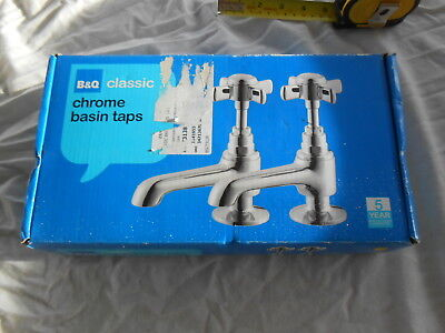 Classic Chrome Basin Taps by BnQ New old stock