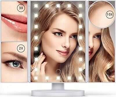 Lighted Makeup Mirror 22 LEDs Vanity Mirror with Lights 10X/3X/2X Magnification