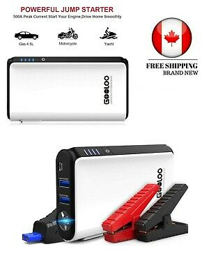 GOOLOO Quick Charge In & Out, 500A Peak SuperSafe Car Jump Starter-Built-in LED