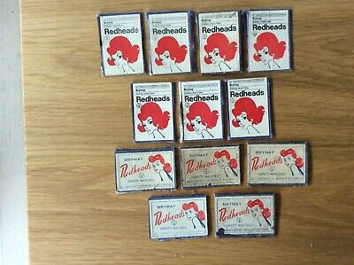 Vintage Matchbox Labels - BryMay, Made in Australia, Redheads, on cardboard