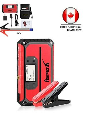 Asperx Car Jump Starter 1000A Peak 18000mAh Car Jump Pack with USB Quick Charge