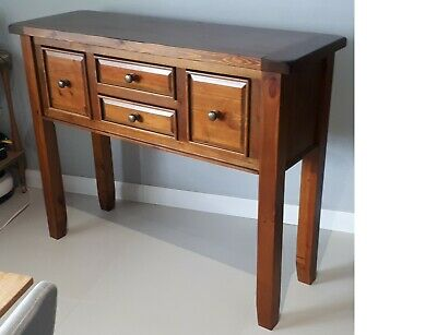 hall stand, Hallway Console, Hall Table. Stained Timber.