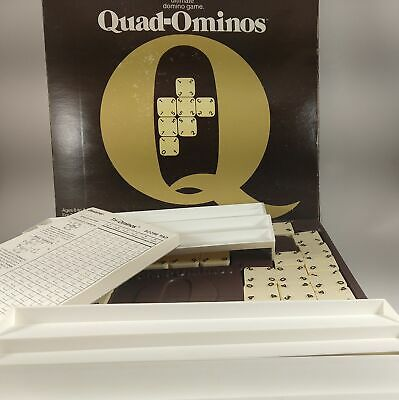Genuine Original Vintage Pressman Quad-Ominos Domino Game 2-8 Players, Ages 8+
