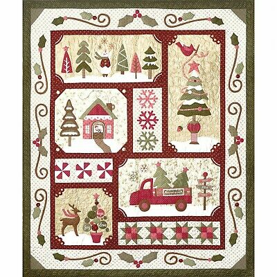 Sew Merry COMPLETE Christmas Applique Pattern & Accessory Pack Quilt Company BOM