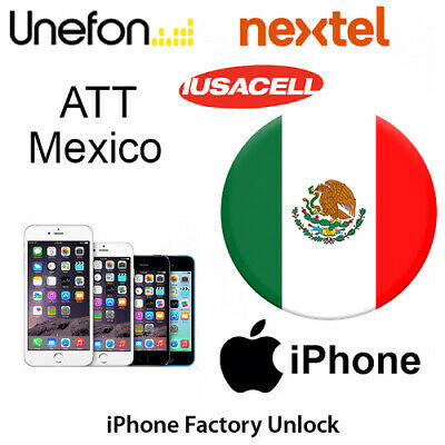 AT&T MEXICO iPhone 7 7+ UNLOCK CODE SERVICE Iusacell Nextel Unefon