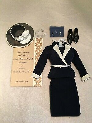 Complete! Franklin Mint Princess Diana Navy Review the Guard Suit