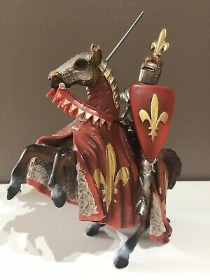 SCHLEICH Knight Prince On Reared Horse (red) 70018 - Retired