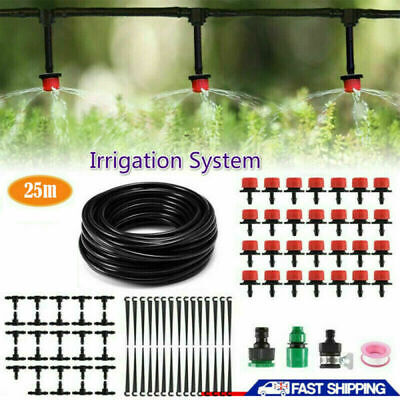 25M Automatic Drip Irrigation System Kit Plant Auto Watering Garden Hose