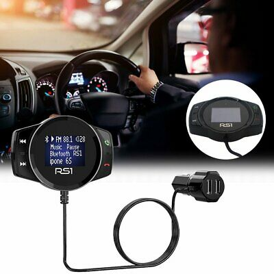 Bluetooth Handsfree Car Kit Wireless Radio Audio Adapter LED Display Phone Call