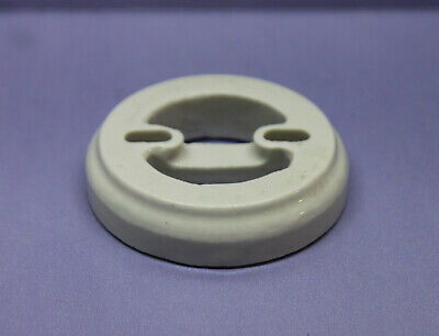 Vintage Perkins Porcelain Base for Round Switch (Rotary, Toggle, Snap, etc)