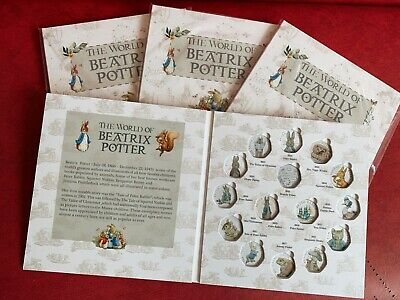 All 2016-2018 Beatrix Potter 50p Fifty pence Coin Album folder collecting pack!!