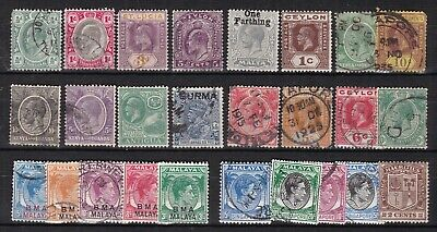 BRITISH COLONIES^^^^ x26 used^ mint ( mostly Brit/Asia)  collection$$@ lar2267bc