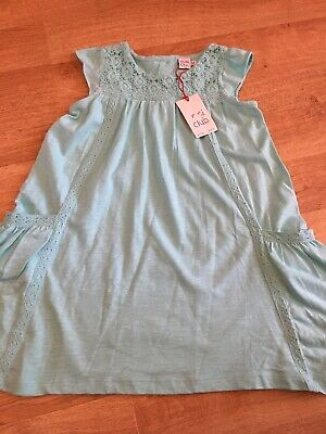 Boots Mini Club Girls Dress 4-5 BNWT turquoise/ blue
