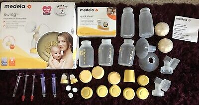 Medela Swing Single Electric Breast Pump Set With Extras
