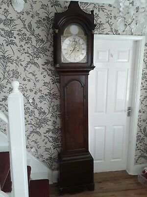 Antique Longcase /Grandfather clock 8 day 5  pilar  heavy clock movement working