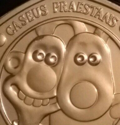 2019 WALLACE & GROMIT 50p coin - certified BU Brilliant Uncirculated fifty pence