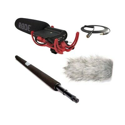 Rode VideoMic w/Micro Boompole,Deadcat Wind Muff & VC1 3.5mm Extension Cable NEW