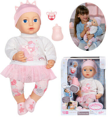 Zapf Creation Baby Annabell Sweet Dreams Puppe Mia 43 cm (Rosa-Weiß)