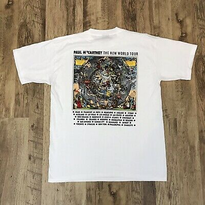 Vintage 1993 Paul McCartney Tour T Shirt XL Brockum Single Stitch Tee Band 90s
