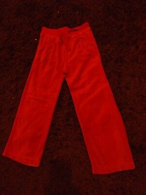 Girls Pink Velour Trackie Bottoms Age 5/6 Years