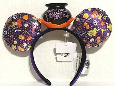 NEW 2019 Disney Parks Mickey's Halloween Party Hocus Pocus Minnie Ears Headband
