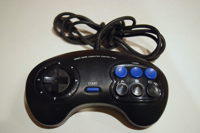 Blockbuster Video Controller 6-Button Turbo for Sega Genesis Console Game System