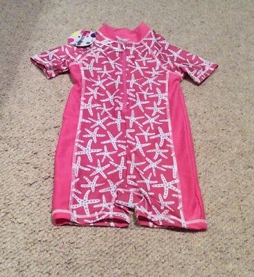 Girls Starfish UV Sun/ Swim All In One Suit 5-6 Yrs  BNWT