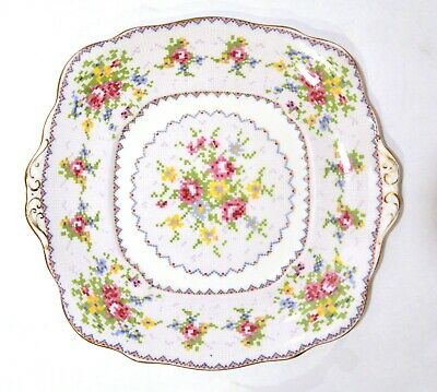 Royal Albert Petit Point Handled Cake Plate