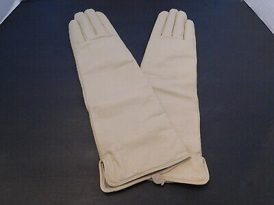 Terry Lewis Ladies Stone Leather Winter Gloves Cashmere & Wool Lining Size M