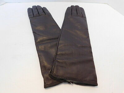 Terry Lewis Ladies Brown Leather Winter Gloves Cashmere & Wool Lining Size M