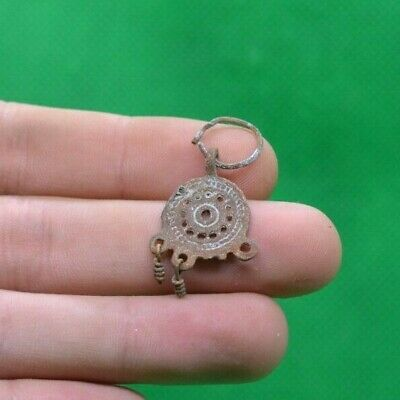 Ancient Celtic Druids Bronze Decorated Earring - 300/200 Bc - Rare